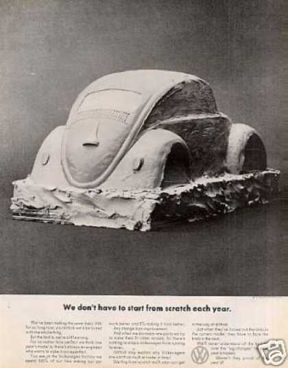 "Volkswagen Beetle Car Ad ""We Don't Have To Start.. (1969)"