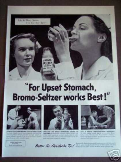 Nurse Photo Nurses Agree On Bromo-seltzer (1953)