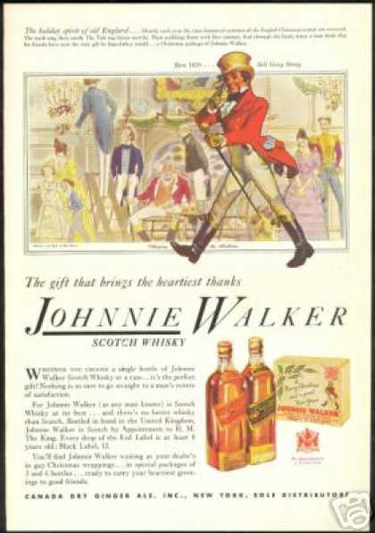 Johnnie Walker Scotch Holiday Spirit Art (1935)