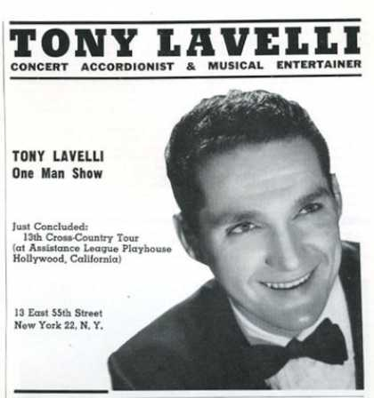 Reginald Stewart Pianist Tony Lavelli Accordion (1961)