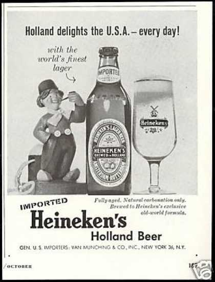 Heineken's Holland Beer Dutch Boy (1959)