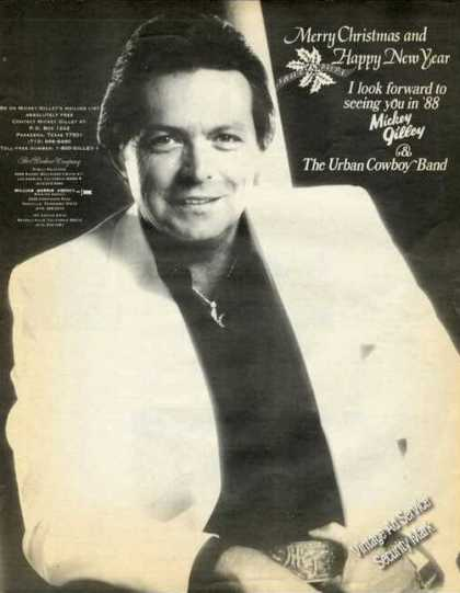 Mickey Gilley Photo Country Music Promo (1987)