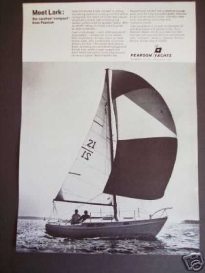 Pearson Yachts Lark 24' Sailboat Boat Photo (1966)