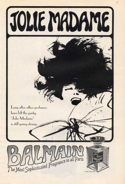 Jolie Madame Balmain Perfume Bottle (1965)