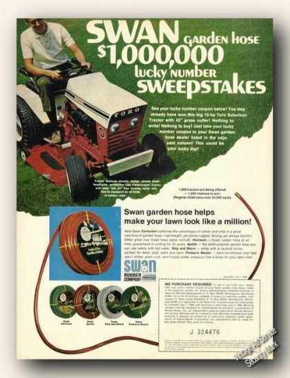 Toro Riding Mower Swan Garden Hose Advertising (1968)