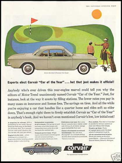 Chevrolet Corvair 2dr & 4dr Car Women Golfers (1960)