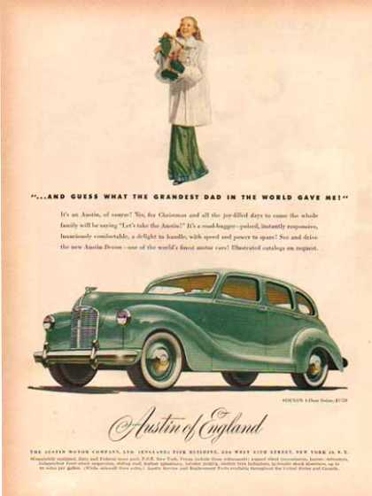 Austin of England Car -Devon 4 Door Sedan – Green (1948)