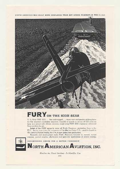 North American Aviation US Navy Fury Jet (1954)
