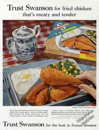 Swanson Frozen Dinners (chicken) Photo Food (1962)