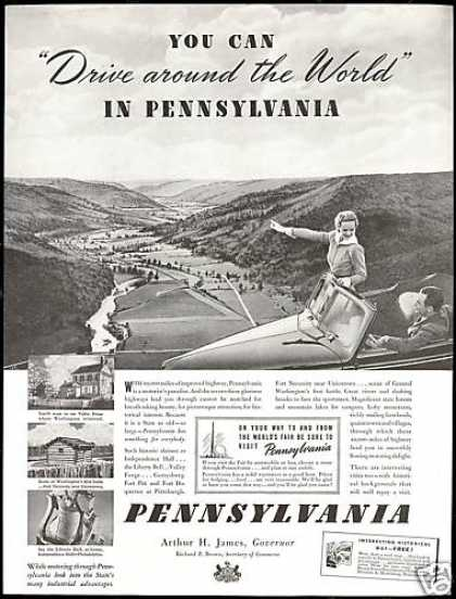 Pennsylvania Travel Governor Arthur H. James (1939)