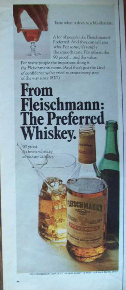 Fleishmann Preferred Whiskey (1969)