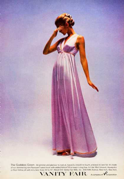 Vanity Fair Goddess Gown Fashion (1972)