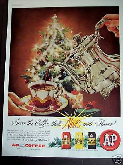Christmas Tree Art A&p Coffee (1958)