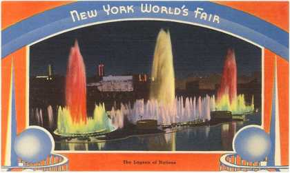 Lagoon of Nations at Night, New York World's Fair (1939)