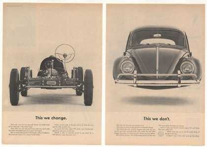 VW Volkswagen Beetle Change Parts Not Shape 2-P (1963)