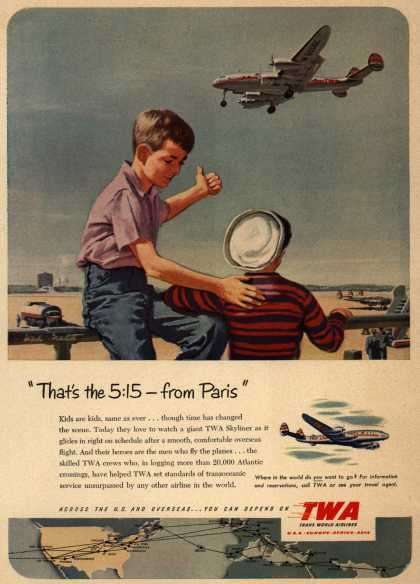 Trans World Airline&#8217;s Skyliner &#8211; &quot;That&#8217;s the 5:15 &#8211; from Paris&quot; (1951)