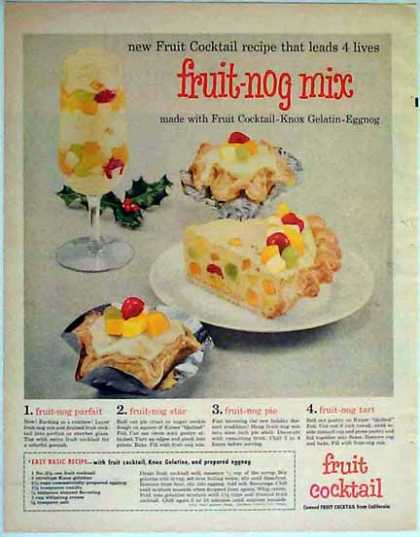 Knox Gelatin Holiday – Fruit-Nog Mix Recipe Ideas (1957)
