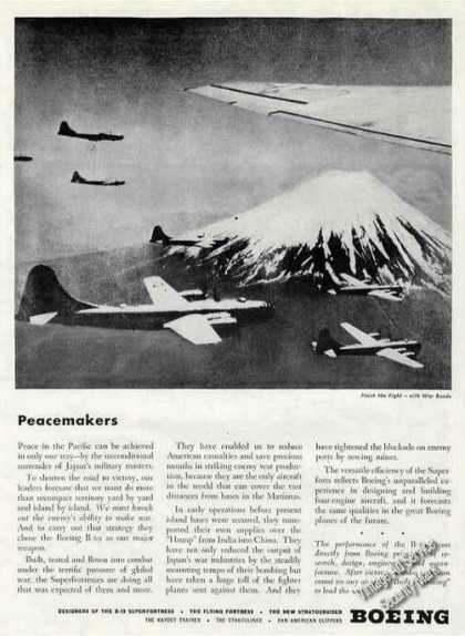 Boeing B-29 Superfortress Over Japan Photo Wwii (1945)