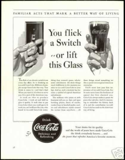 Coca Cola Better Living Vintage Coke (1940)