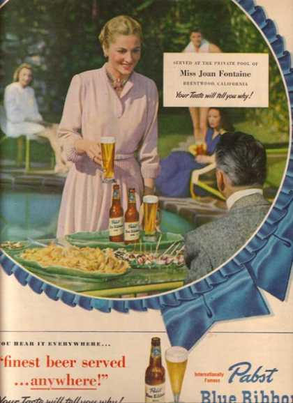 Pabst Beer &#8211; Joan Fontaine (1949)