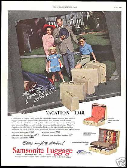 Smart Family Samsonite Luggage Photo (1948)