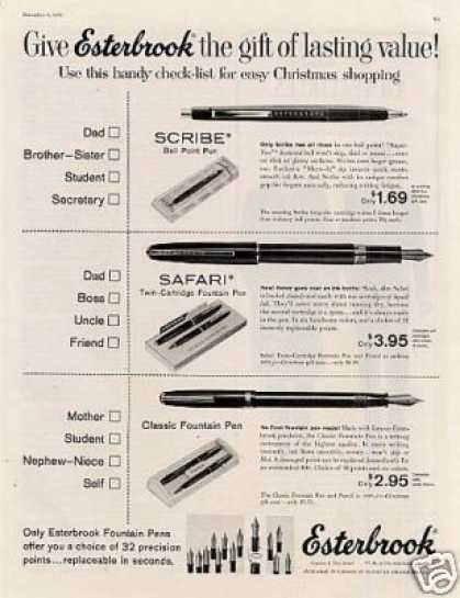 Esterbrook Fountain Pens (1958)