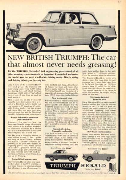 Triumph Herald Ad Sports Coupe Convertible (1960)