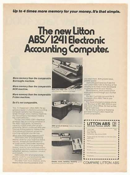 Litton ABS 1241 Electronic Accounting Computer (1971)