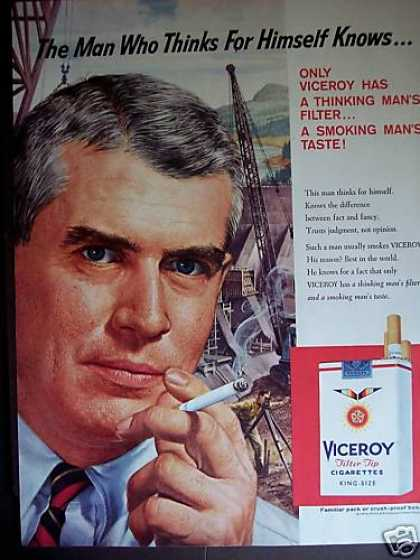 Thinking Man's Cigarette Viceroy (1958)