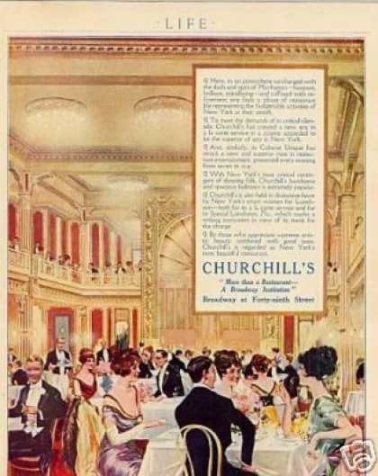 Churchill's Resturant Color (1914)