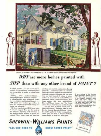 Sherwin Williams Paint Home Cleland Art (1937)