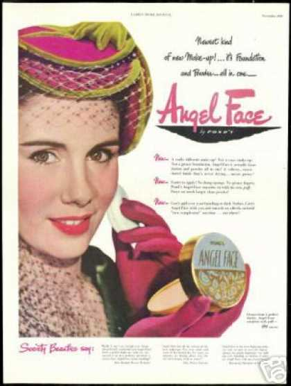 Society Beauty Ponds Angel Face Makeup Photo (1948)