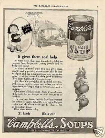 "Campbell's Soup Ad ""It Gives Them Real... (1920)"
