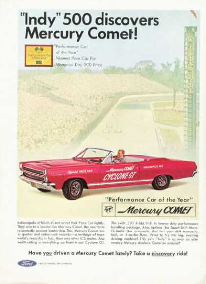 Rare Cyclone Comet Gt Indy 500 Pace Car (1966)