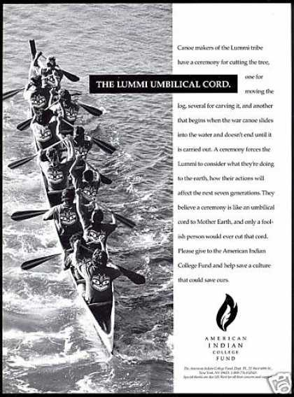 Lummi Canoe American Indian College Fund (1993)