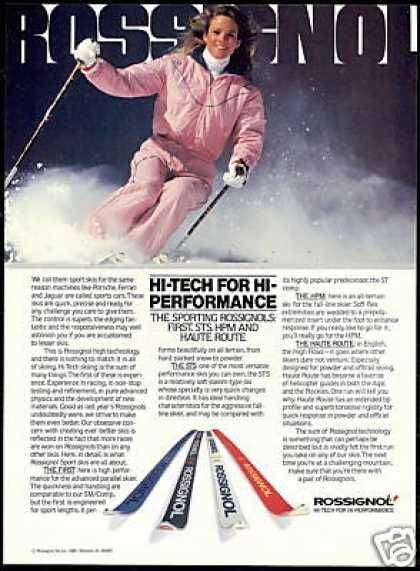 Pretty Woman Rossignol Snow Ski Photo Vintage (1981)