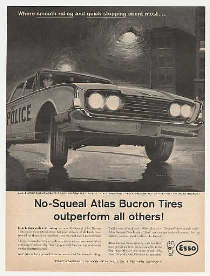 Esso No-Squeal Atlas Bucron Tires Police Car (1960)