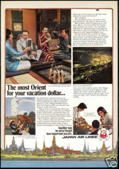 JAL Japan Airlines Happi Holidays Photo Vintage (1977)