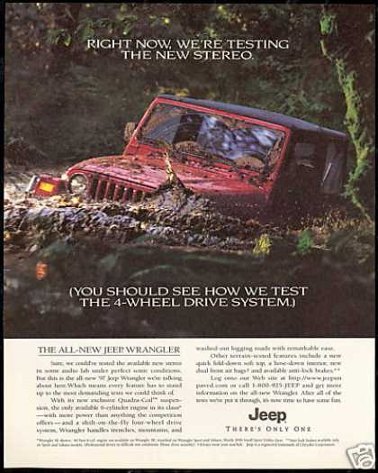 Red Jeep Wrangler Test Photo Vintage (1997)