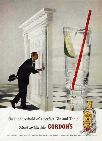 The Threshold of a Perfect Gin & Tonic Gordon's (1957)