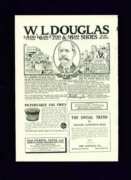 W. L. Douglas Shoes for Men & Women C 1/2 Page (1921)