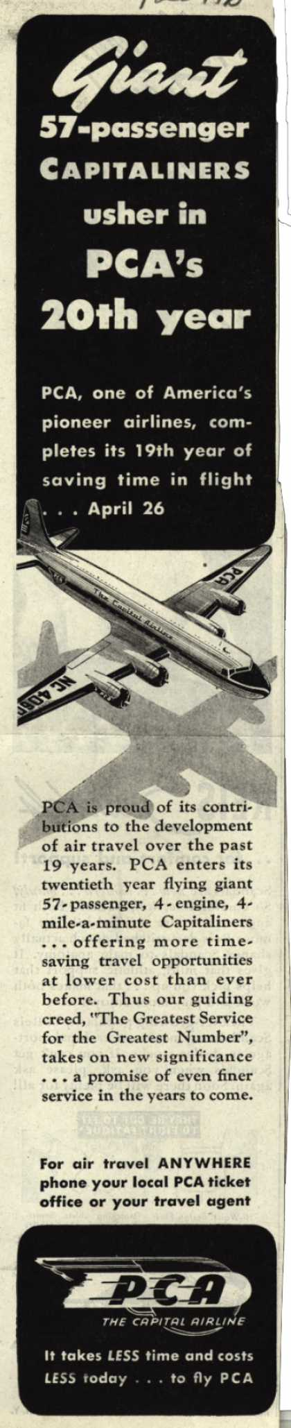 PCA's Capitaliners – Giant 57-passenger Capitaliners (1946)