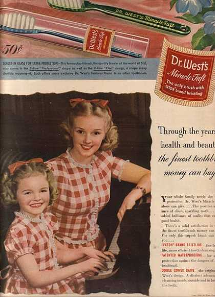 Dr. West's Miracle Tuft Tooth Brush (1944)