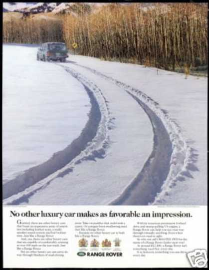 Range Rover 4WD Car Snow Impression Photo (1991)