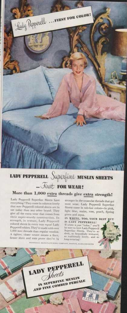 Lady Pepperell Sheets for the Bed (1951)