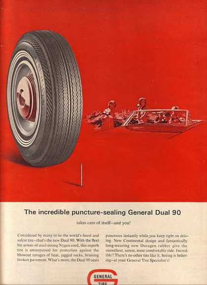 General's Dual 90 Puncture-sealing Tires (1965)
