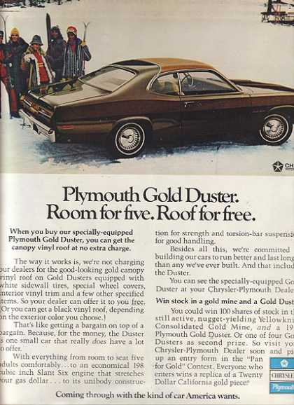 Chrysler's Plymouth Valiant/ Duster/ Barracuda (1972)