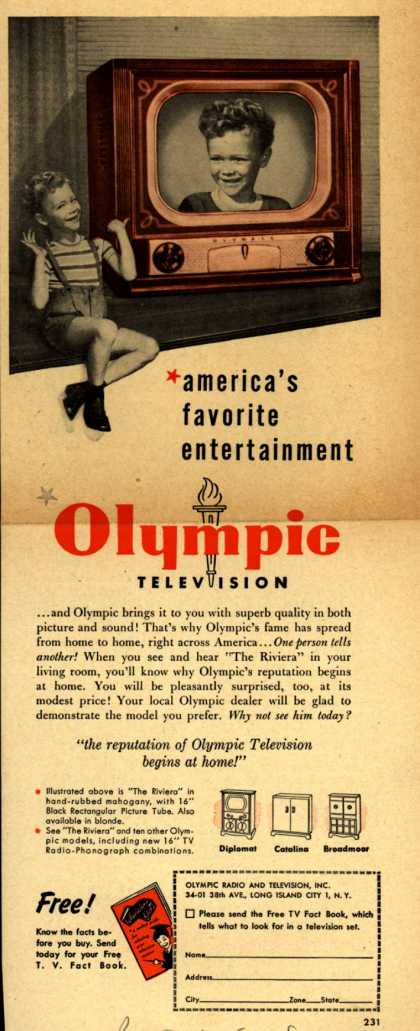 Olympic Radio & Television's various – america's favorite entertainment (1950)