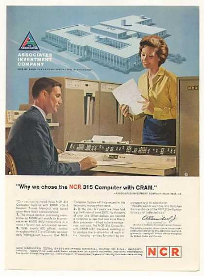 Associates Investment Co NCR 315 CRAM Computer (1963)