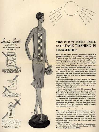 Marie Earle's Various – This Is Why Marie Earle Says Face Washing Is Dangerous (1928)
